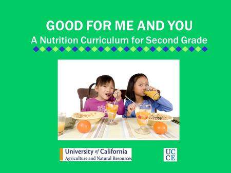 A Nutrition Curriculum for Second Grade