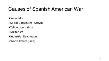 causes and results of the spanish