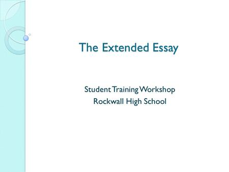 ib extended essay abstract rubric