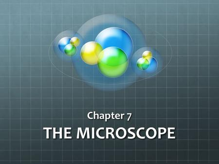 Chapter 7 THE MICROSCOPE.