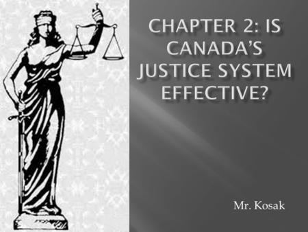 Mr. Kosak.  Two organizations that function outside of the government and play a significant role in creating a fair and equitable justice system are.