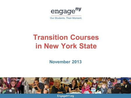 Transition Courses in New York State