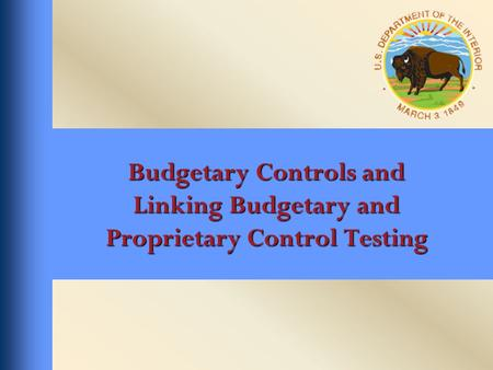 Budgetary Controls and Linking Budgetary and Proprietary Control Testing.