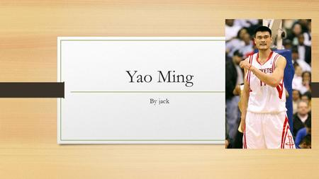 Yao Ming By jack. Introduction Great basketball player. Really tall. How he got drafted. Retired.