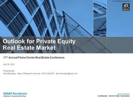 Outlook for Private Equity Real Estate Market
