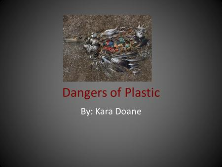 Dangers of Plastic By: Kara Doane. Why Should You Care We often hear about plastic pollution in the environment, yet because we are not witnessing the.