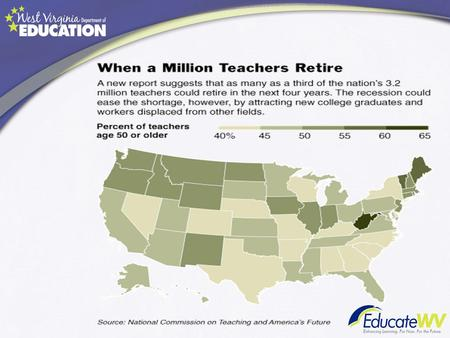 Who Will Teach? Experience Matters Between 2004 and 2008, 300,000 veteran teachers left the workforce for retirement. See the Shifts in the Age of the.