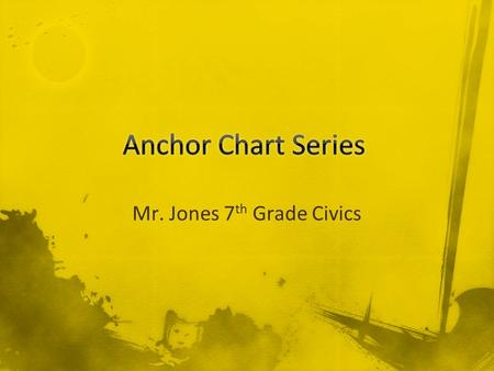 Mr. Jones 7 th Grade Civics. Web-Notes Purpose:  To show Main Ideas (Big Picture)  To show Details (Parts of a Whole) Rules: 1. Place Main Idea.