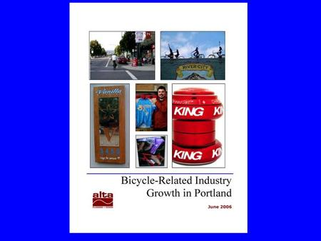 The Study  Surveyed more than 100 bike-related businesses  Sectors: Retail/repair Manufacturing/distribution Tours, rides, races, and events Professional.