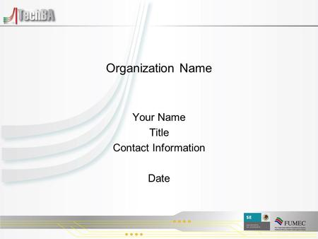 Organization Name Your Name Title Contact Information Date.