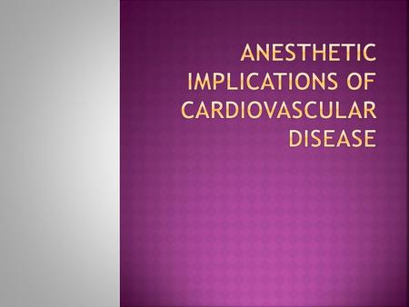 acc aha guidelines for preoperative cardiac risk assessment