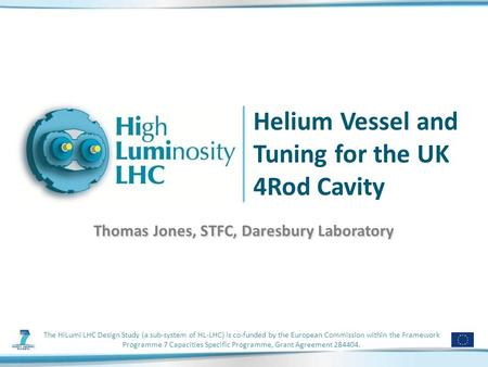 The HiLumi LHC Design Study (a sub-system of HL-LHC) is co-funded by the European Commission within the Framework Programme 7 Capacities Specific Programme,