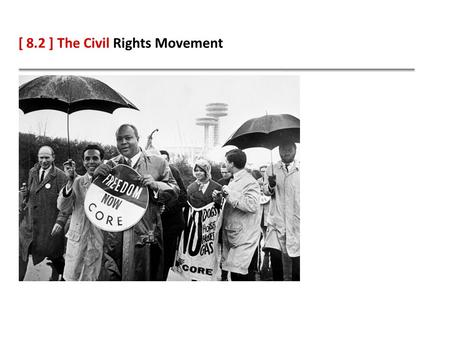 [ 8.2 ] The Civil Rights Movement. Learning Objectives Describe and identify key leaders of civil rights movements in Texas. Compare the civil rights.