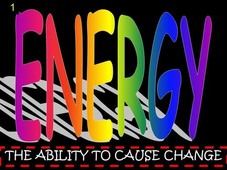 THE ABILITY TO CAUSE CHANGE 1. mechanical energy T y p e s o f E n e r g y 2.