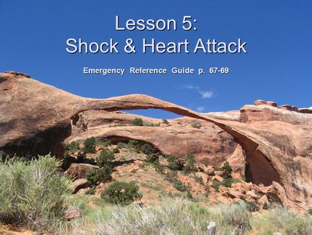 Lesson 5: Shock & Heart Attack Emergency Reference Guide p. 67-69.