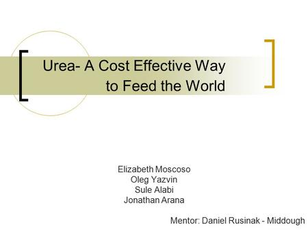 Urea- A Cost Effective Way to Feed the World