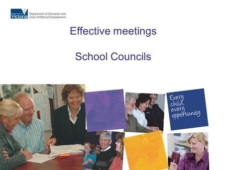 Effective meetings School Councils