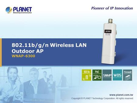 802.11b/g/n Wireless LAN Outdoor AP WNAP-6300 Icon5Icon4Icon3Icon2Icon1.