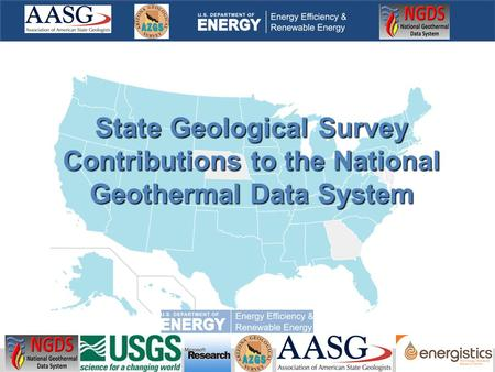 State Geological Survey Contributions to the National Geothermal Data System.