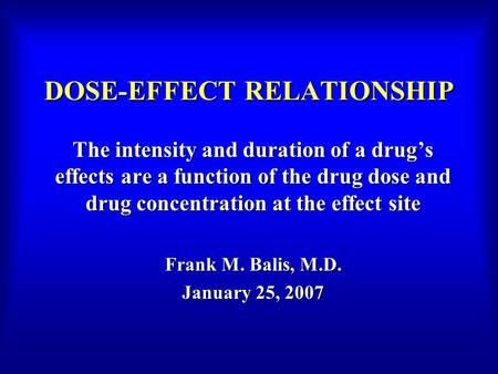 power dose effect relationship