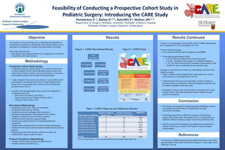 The purpose of this pilot study was to determine the feasibility of conducting a prospective cohort study with sufficient follow-up in a population of.