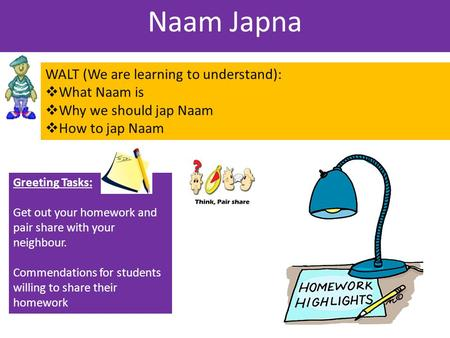 Naam Japna WALT (We are learning to understand): What Naam is