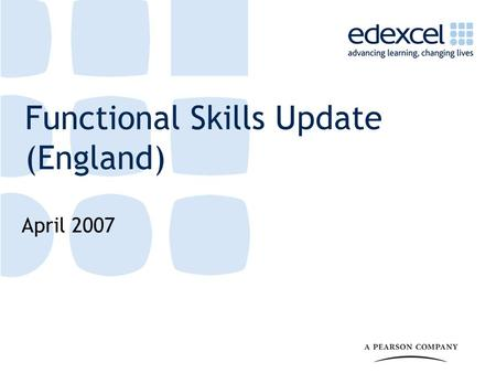 Functional Skills Update (England) April 2007. 2 Can you answer these questions? A coat costs £80 The coat is in a sale with 25% off What is the new cost.