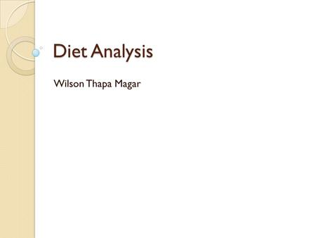 Diet Analysis Wilson Thapa Magar. Vitamin B(Niacin) *Also known as vitamin B3, nicotinic acid, or less commonly vitamin PP Chemical Structure Pyridine-3-carboxylic.