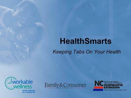 HealthSmarts Keeping Tabs On Your Health. Prevention Primary Secondary Tertiary.