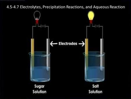 4.5-4.7 Electrolytes, Precipitation Reactions, and Aqueous Reaction.