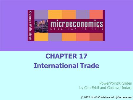 CHAPTER 17 International Trade