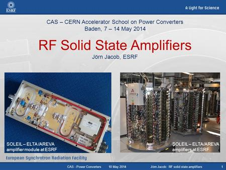Jörn Jacob: RF solid state amplifiers