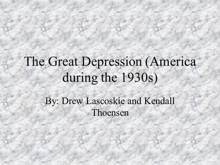 the global effects that the american depression had Economic, social & political consequences of the great war world war i had important effects on society at social & political consequences of the great war.