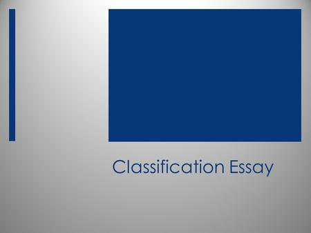 essay on classification of movies