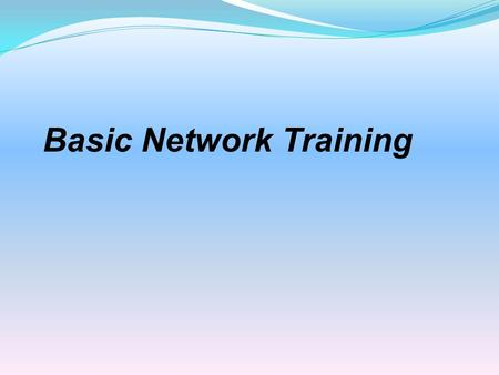 Basic Network Training. Cable/DSL Modem The modem is the first link in the chain It is usually provided by the ISP and often has a coax cable connector.