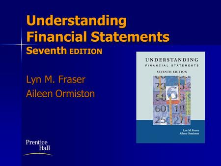 Understanding Financial Statements Seventh EDITION