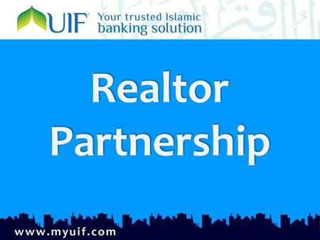 Realtor Partnership Realtor Partnership. why islamic finance why islamic finance NJ is the fastest growing state for Muslims Muslims are significant home.
