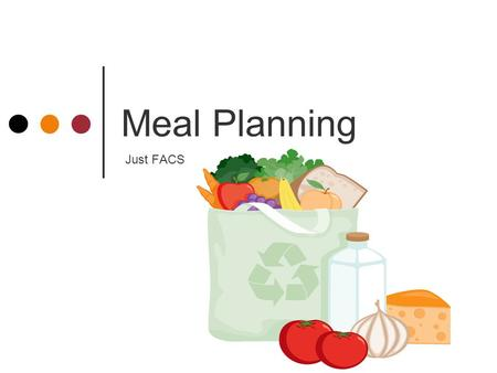 Meal Planning Just FACS.