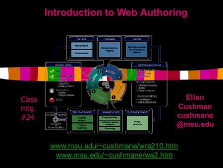 Introduction to Web Authoring Ellen Cushman   Class mtg. #24.