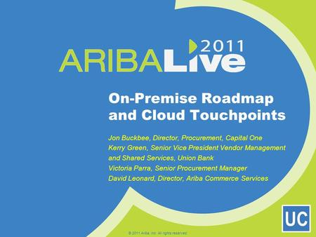 On-Premise Roadmap and Cloud Touchpoints