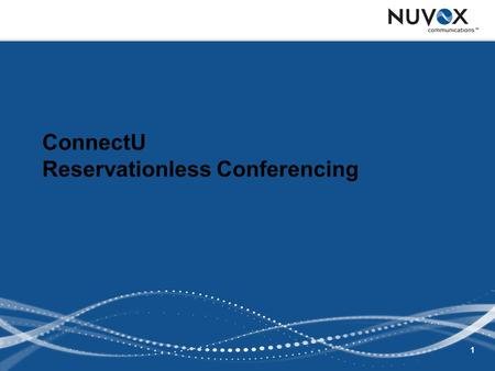 1 ConnectU Reservationless Conferencing. 2 Agenda Overview Phone Conferencing Web and Phone Conferencing Reports.