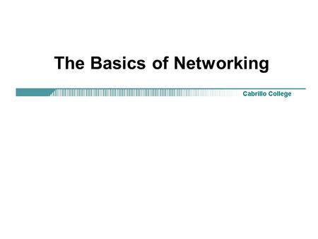 The Basics of Networking. Rick Graziani What is networking? Communication! An interconnection of computers and other devices: –Printers.