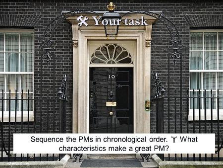  Your task Sequence the PMs in chronological order.  What characteristics make a great PM?