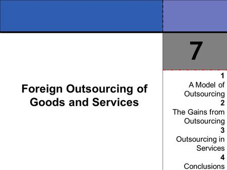 Foreign Outsourcing of Goods and Services