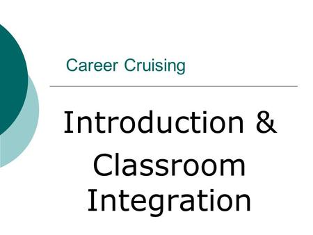 Introduction & Classroom Integration