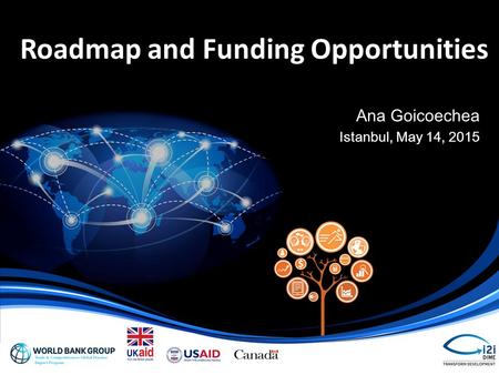 Roadmap and Funding Opportunities Ana Goicoechea Istanbul, May 14, 2015.