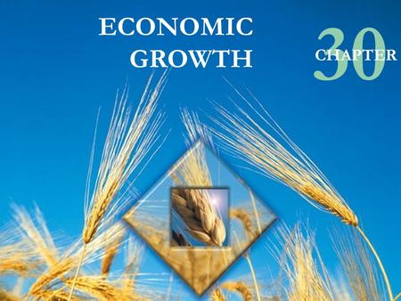 © Pearson Education Canada, 2003 ECONOMIC GROWTH 30 CHAPTER.