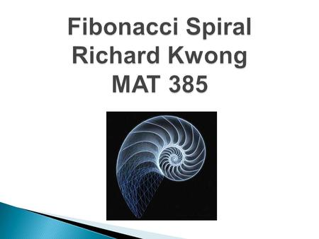  The Fibonacci Spiral is created from the Fibonacci Sequence. The Fibonacci sequence is a mathematical succession of numbers in which each number is.