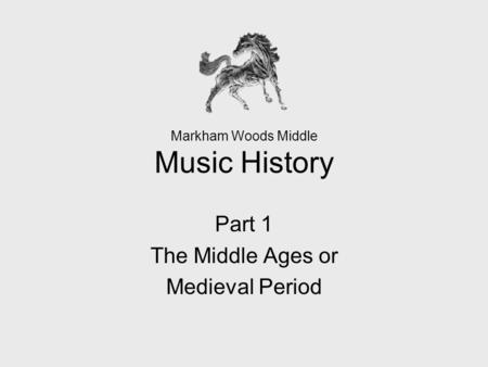 Markham Woods Middle Music History