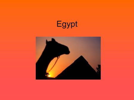 Egypt. Settling the Nile When: From 6000 B.C. – 5000 B.C., the earliest hunter gatherers settled villages along the Nile River valley.